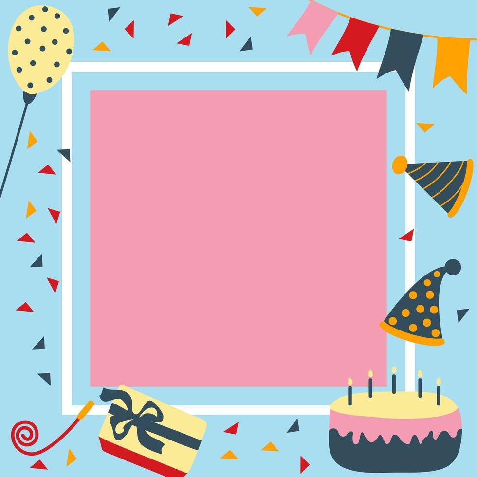 verjaardag en feestkaartelementen vector