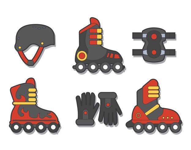 rollerblade vector set