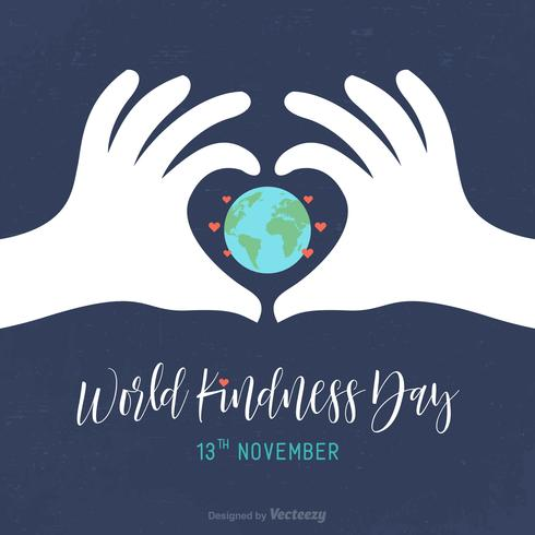 Wereld vriendelijkheid dag Vector kaart