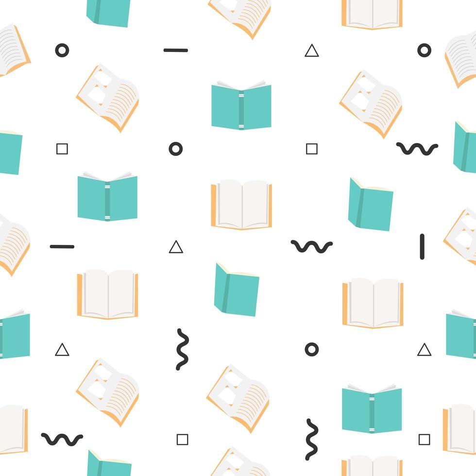 open boeken naadloze patroon vector