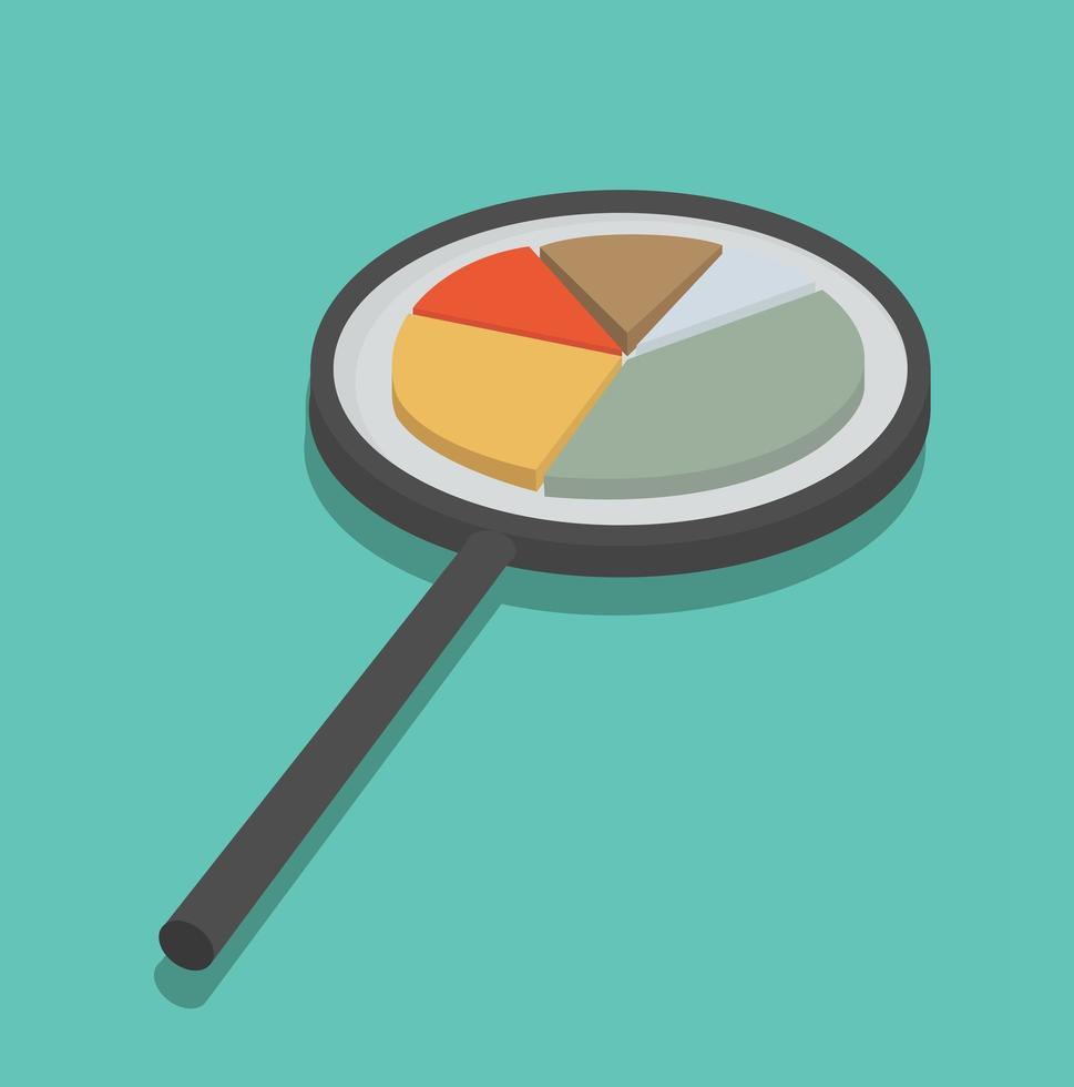bedrijfsanalyse met vergrootglas vector