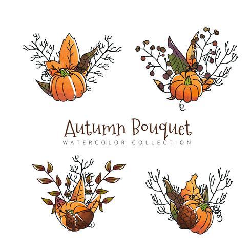 Autumn Leaves-collectie aan de herfstseizoen vector
