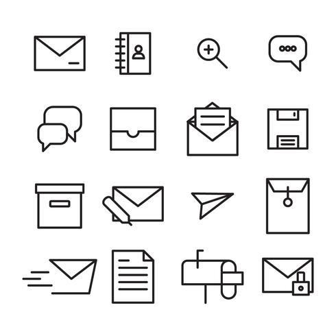 Set van contact iconen vector