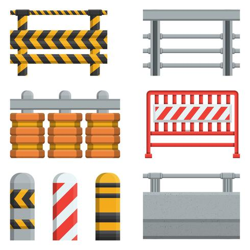 Verzameling van Vangrail Concrete Vector Element