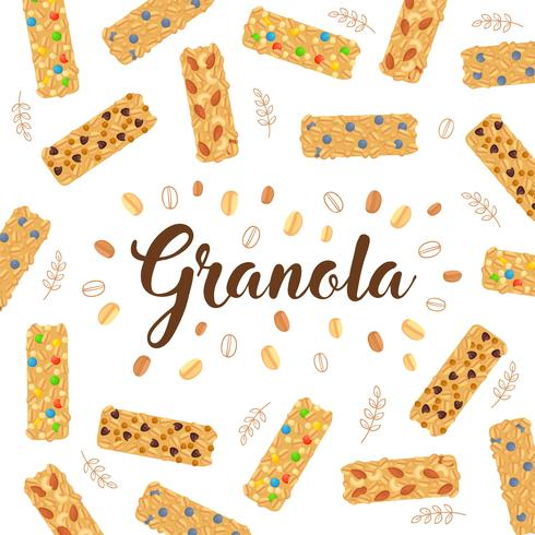 Granola achtergrondgeluid illustratie vector