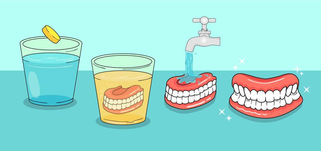 Tandheelkundige zorg vectoren