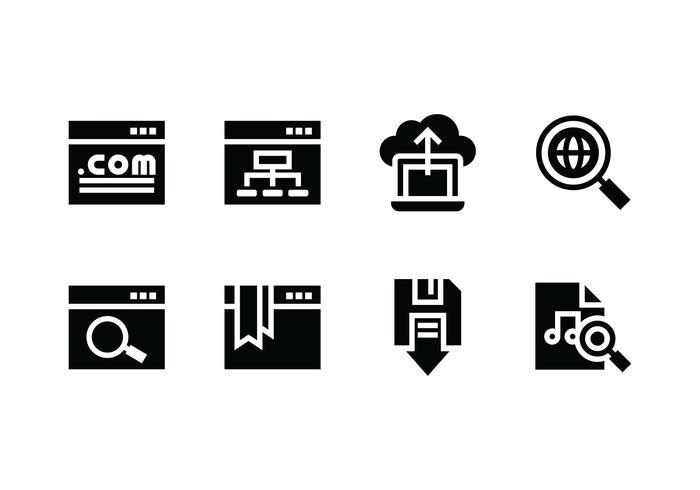 Website ingesteld vector pictogram