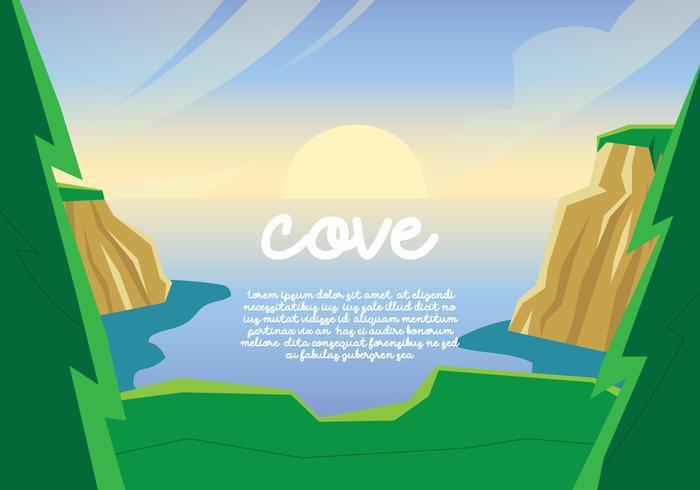 Cove landschapsmening vector