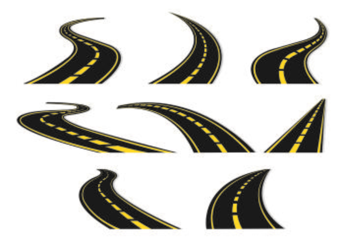 Set van snelweg pictogram vector