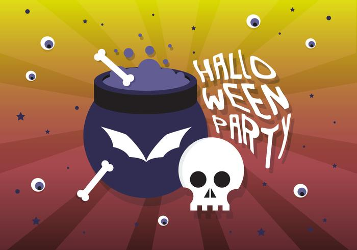 Gratis platte Halloween vectorillustratie vector