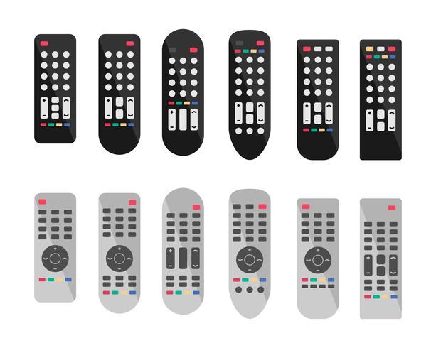 Remote Control of Tv Remote Icons vector