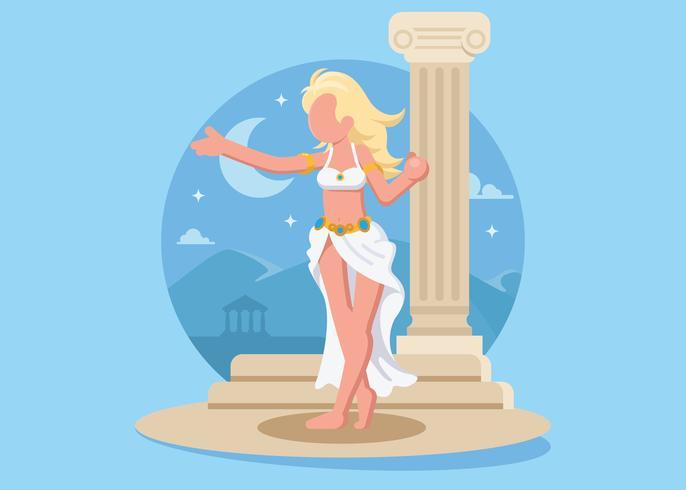 Vrouwelijke Godin Aphrodite Illustration vector