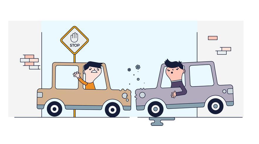 Gratis auto's crash vector