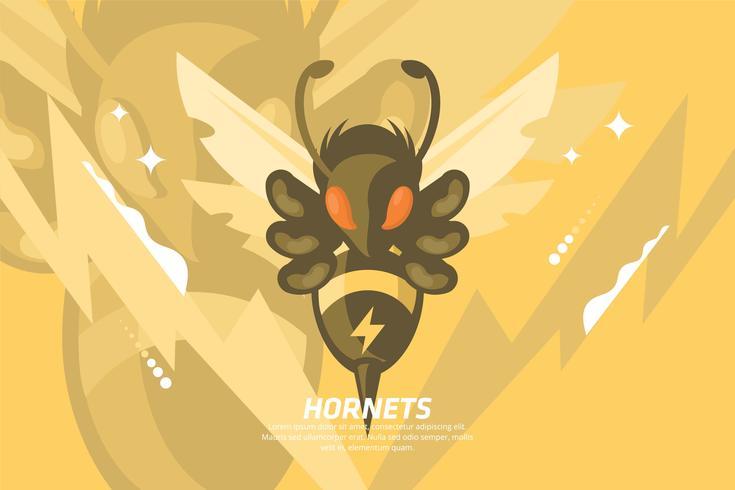 Hornet Illustratie vector