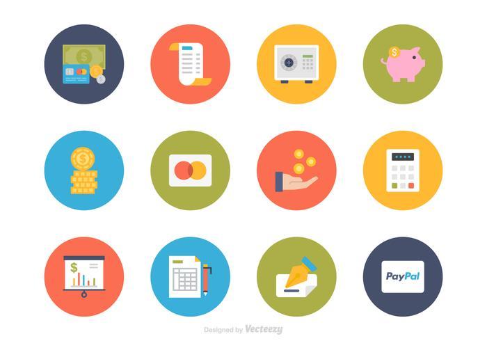 Platte Financiën Vector Icon Set