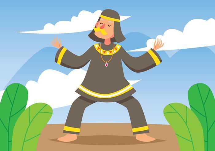 Sjamaan ritueel doen vector