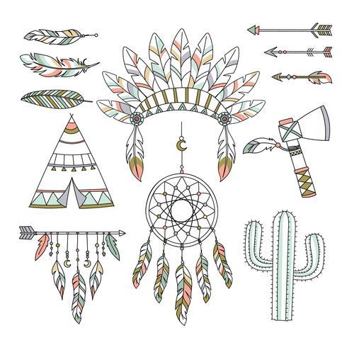 Decoratieve Boho Tribal Style vector