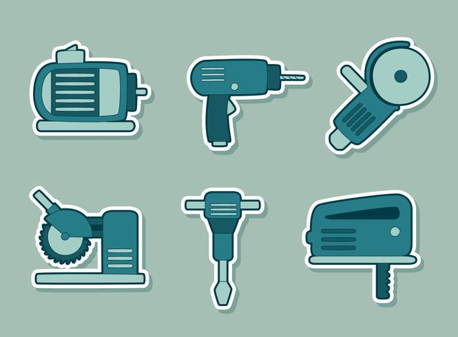 Bouw hulpmiddelen collectie Vector