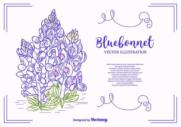 Bluebonnet Vector achtergrond