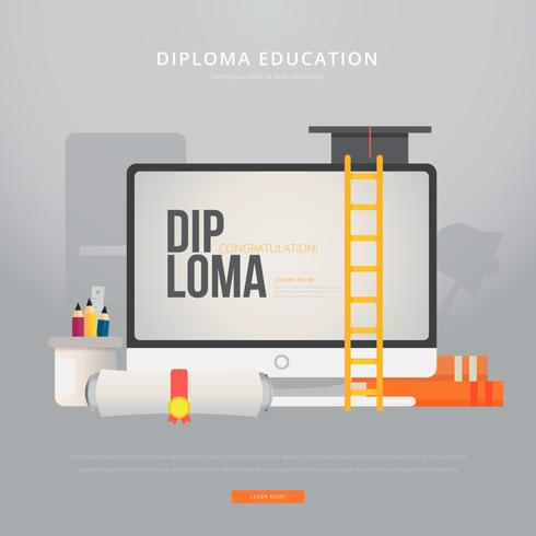 Diploma studie illustratie vector