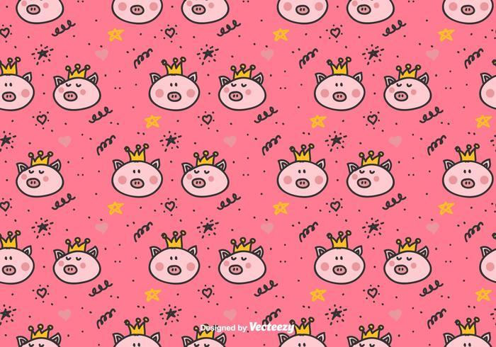 Prinses varkens Vector patroon