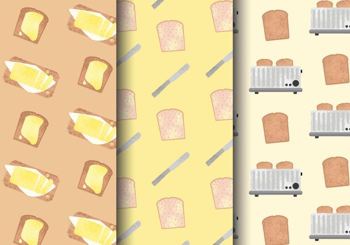 Gratis schattig ontbijt eten patronen vector