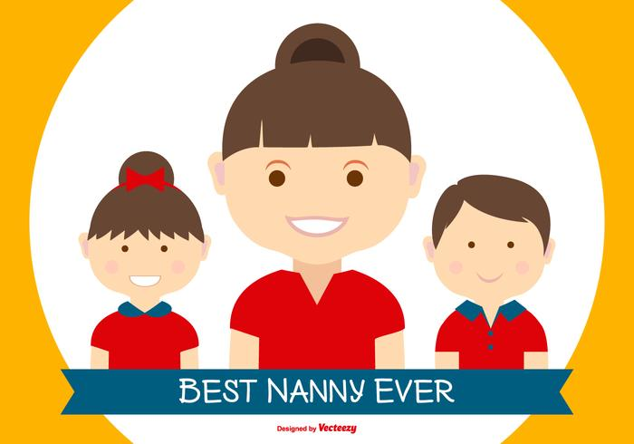 Beste nanny ter wereld illustratie vector
