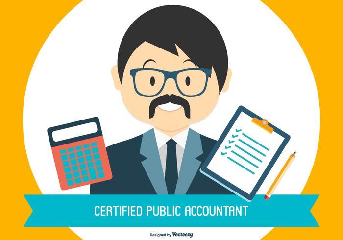 cpa - officiële illustratie van een openbare accountant vector