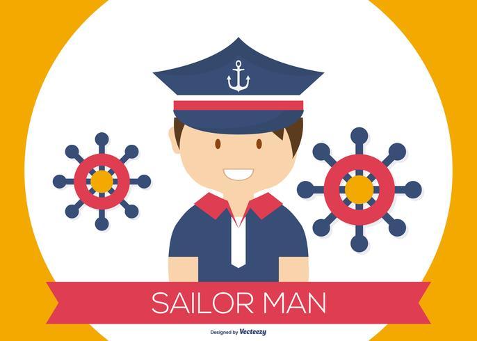 Schattig Sailor Man Illustratie vector
