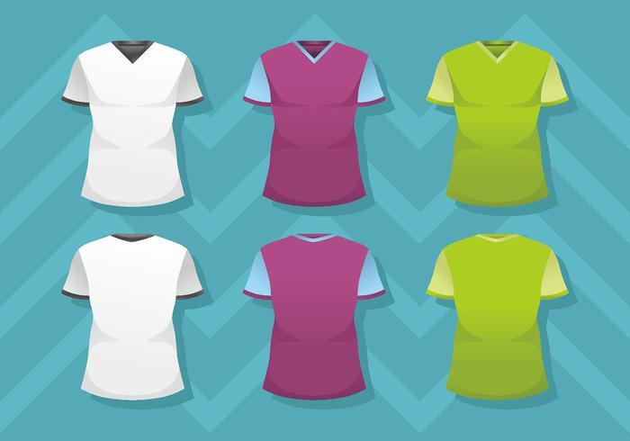 Man v-hals shirt sjabloon vector