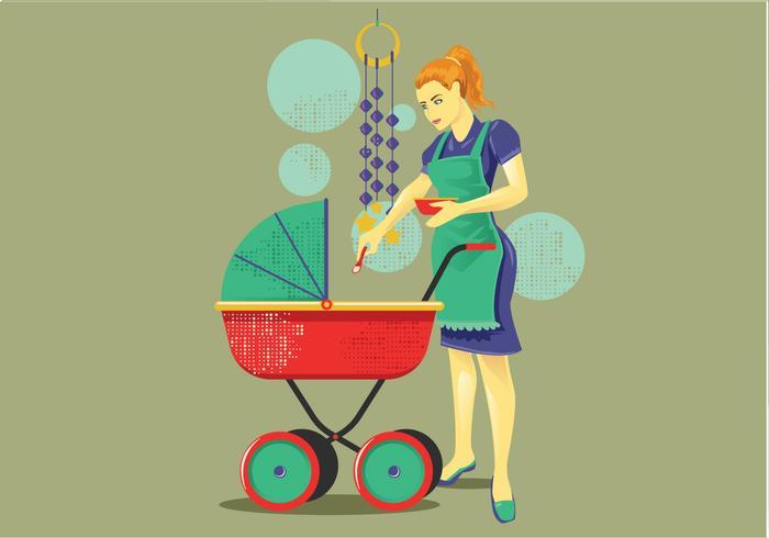 babysitter vector