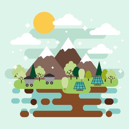 Gratis groene natuurlijke hulpbronnen ontwerp Vector
