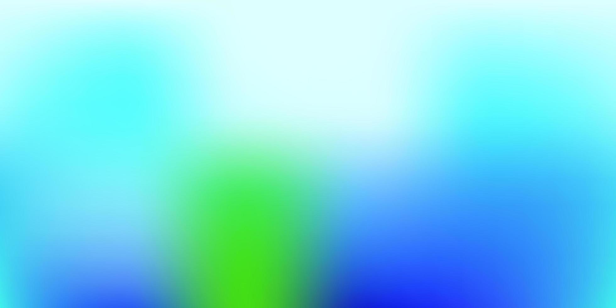 lichtblauw, groen kleurverloop achtergrond wazig. vector