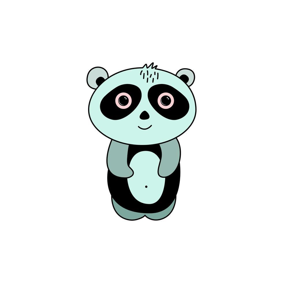 panda in doodle stijl vector