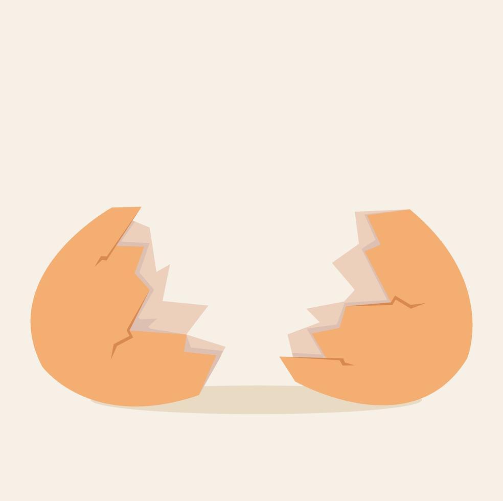 gebroken eierschaal vector