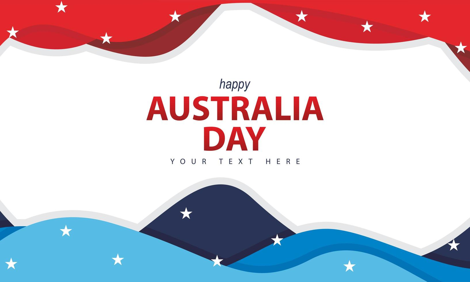 australische dag achtergrond met golvende vorm vector