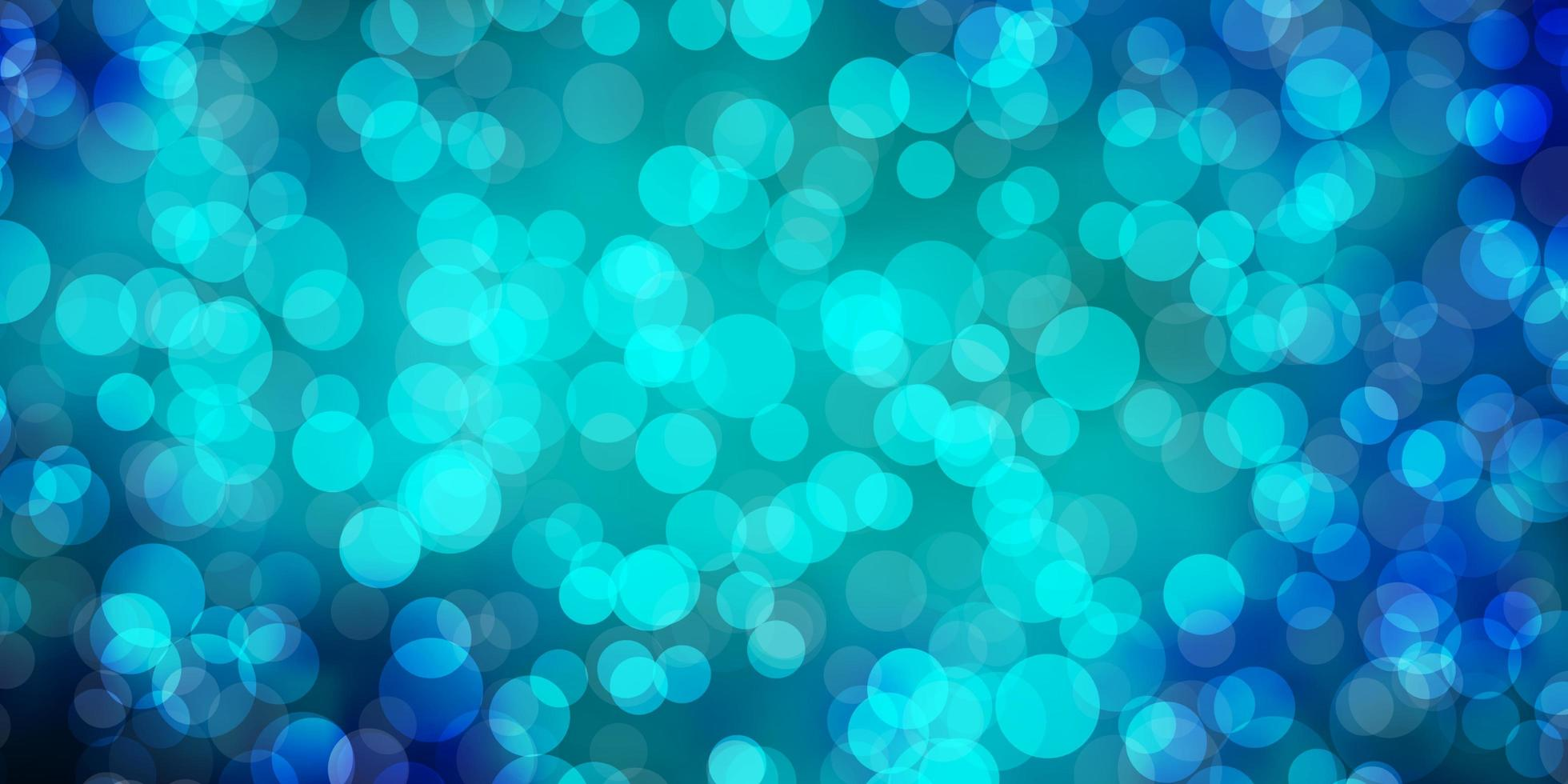 donkerblauw patroon met bollen. vector