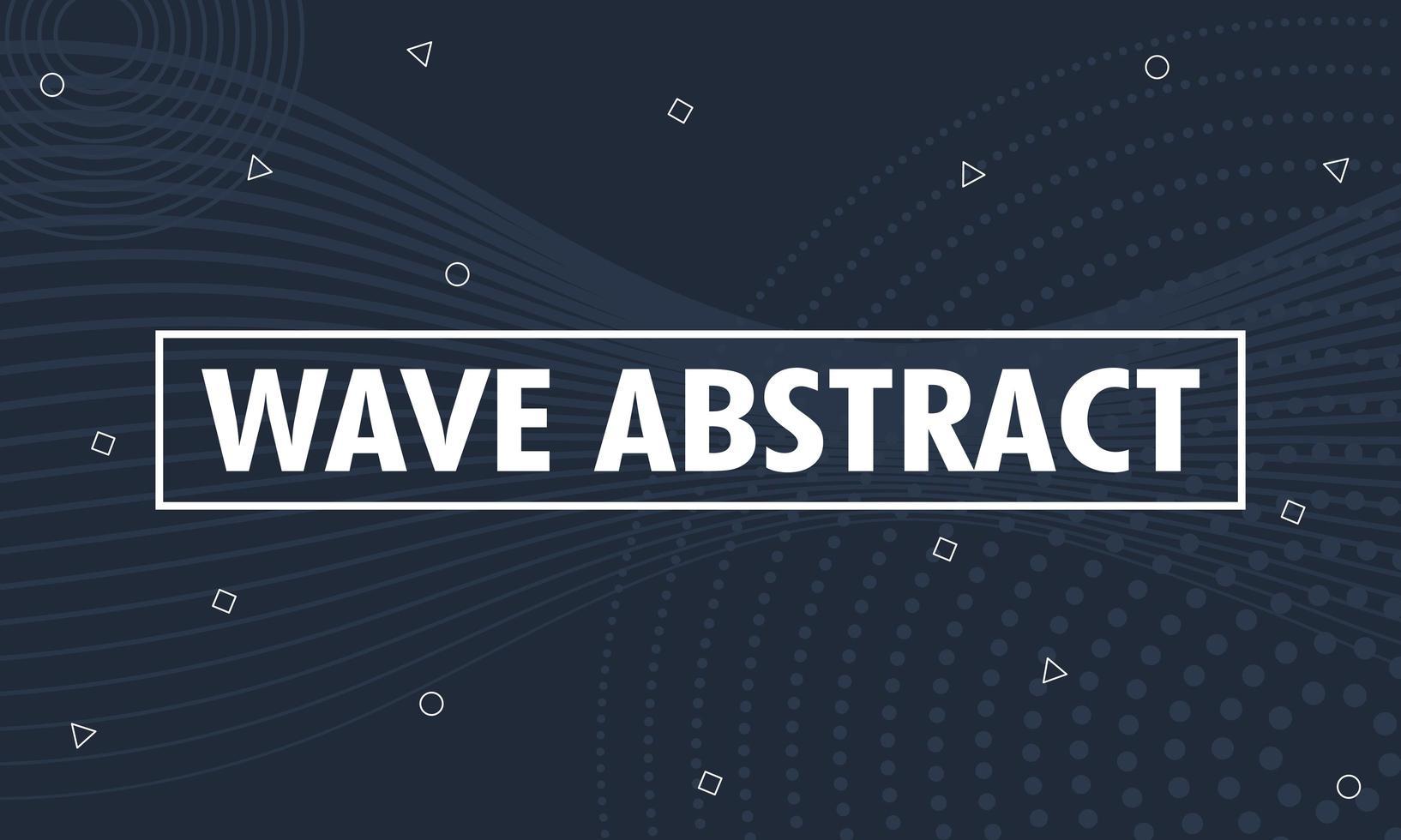 abstracte achtergrond met golven en geometrische vormen vector