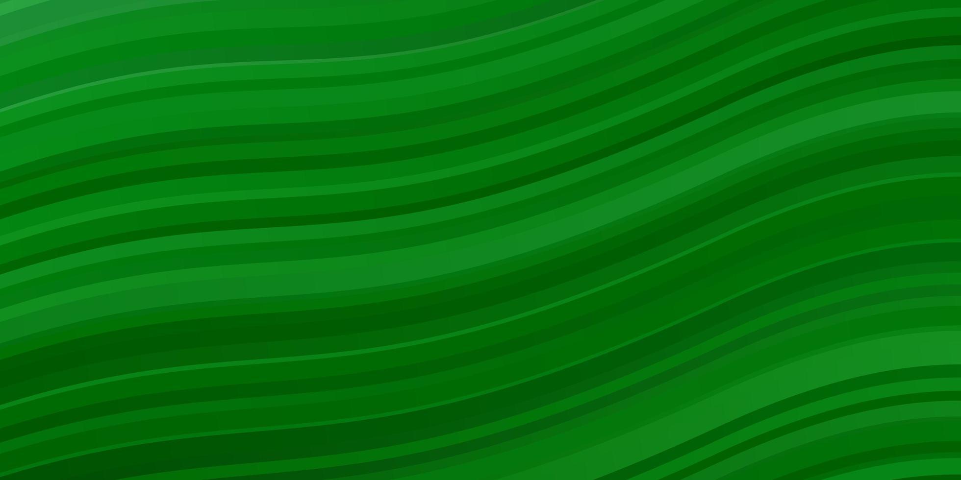 lichtgroene achtergrond met gebogen lijnen. vector