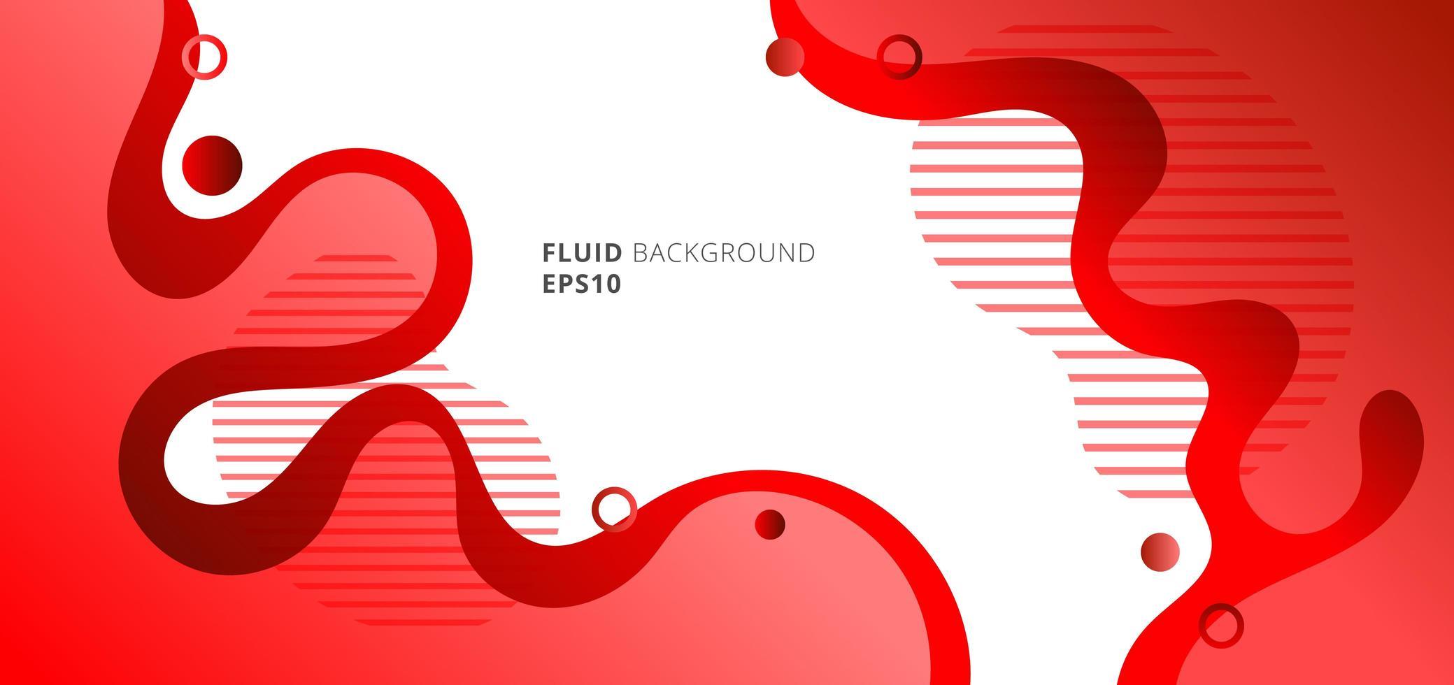 abstracte moderne vloeibare of vloeibare rode gradiëntkleuren vector