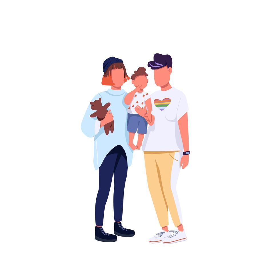 familie van hetzelfde geslacht vector