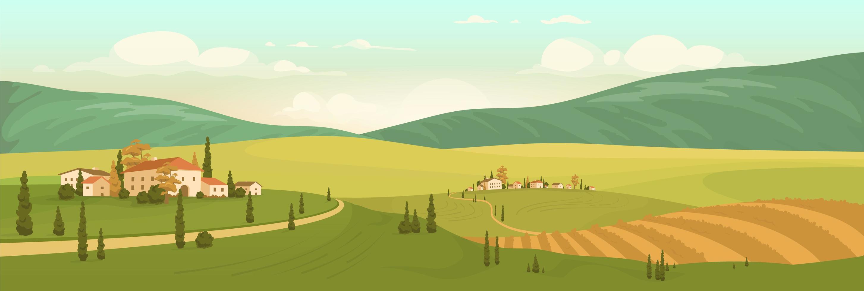 herfst natuurlijk landschap vector