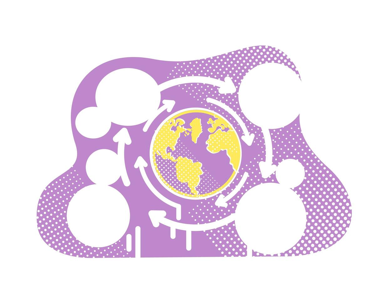 wereldwijde globalisering vector