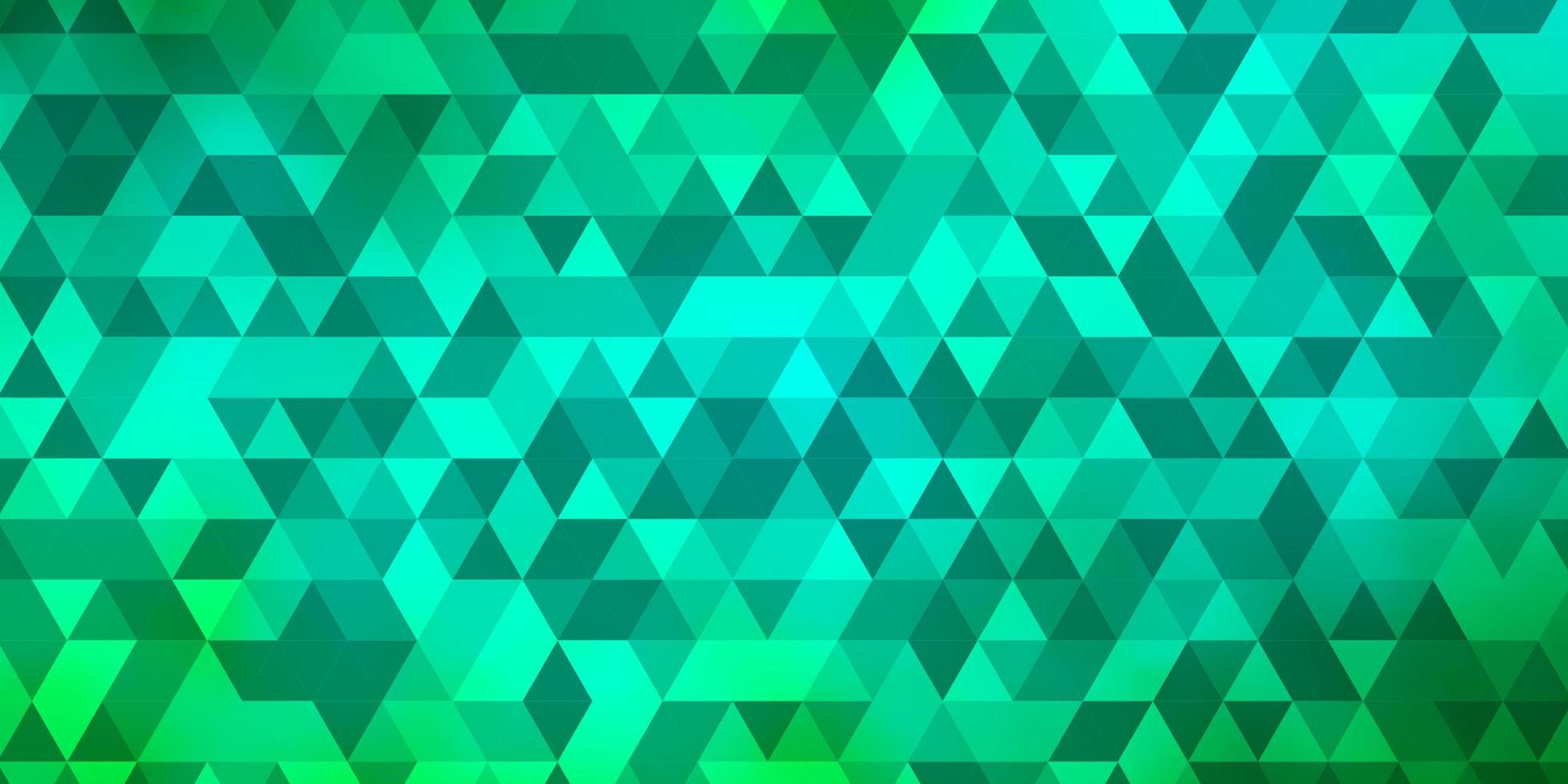 lichtgroene lay-out met lijnen, driehoeken. vector