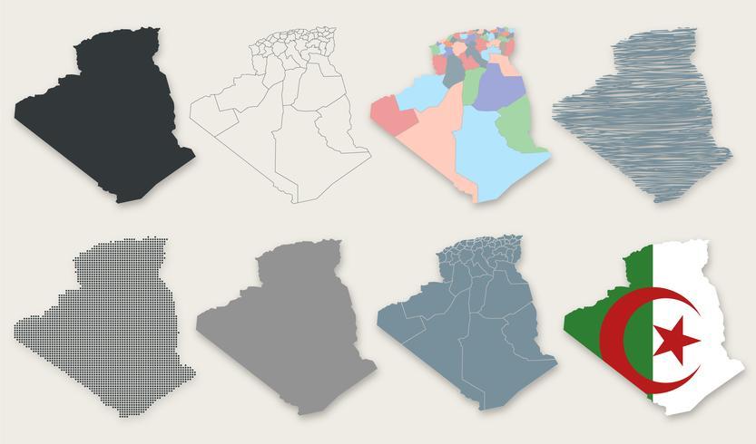 Vector Algerije kaart collectie