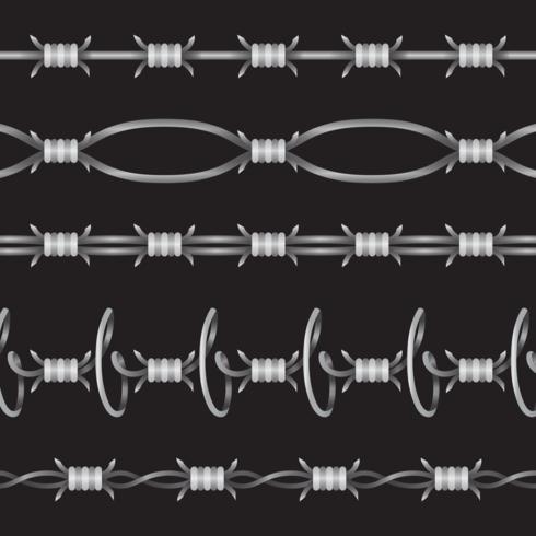 prikkeldraad set vector