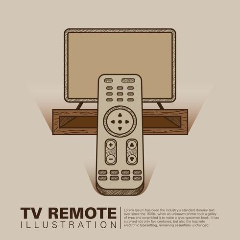 Tv Remote Illustratie vector