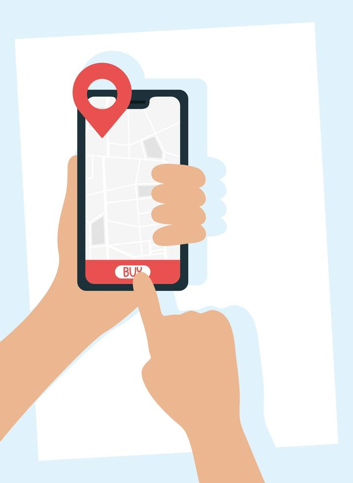 online bezorgservice via smartphone vector