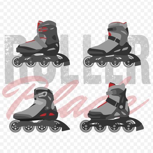 Moderne Roller Blades Set vector
