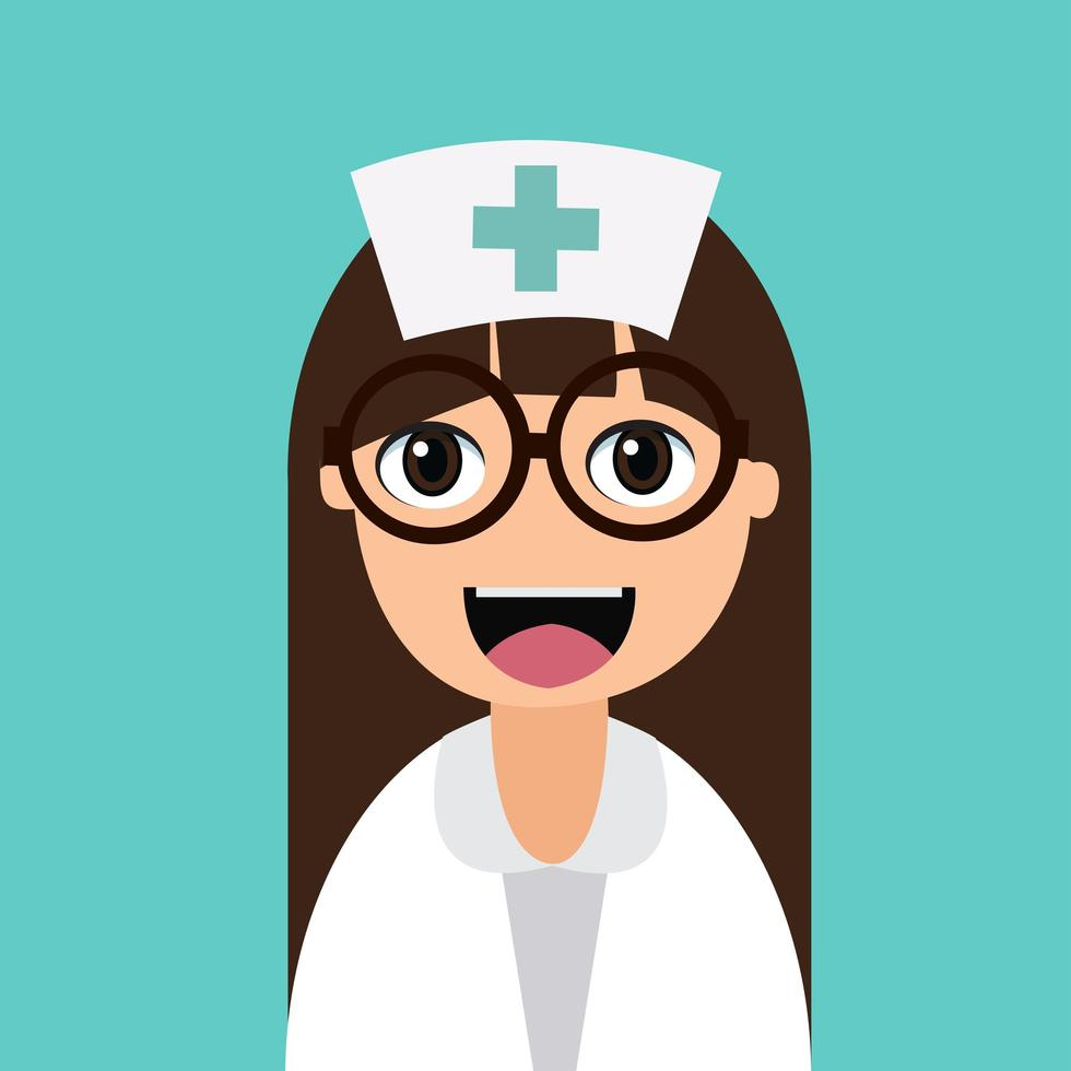 happy cartoon verpleegster vector